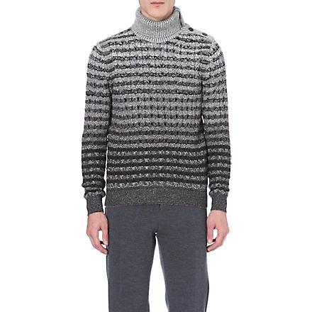 MISSONI Roll-neck patterned jumper (Grey