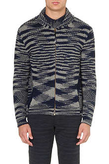 MISSONI Abstract-knit cashmere-wool cardigan