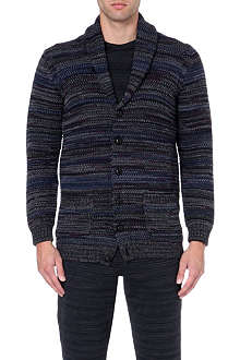 MISSONI Shawl-collar striped cardigan