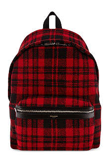 SAINT LAURENT Tartan backpack