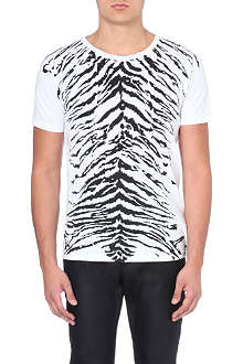 SAINT LAURENT Tiger print t-shirt