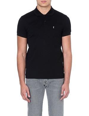 SAINT LAURENT Cotton-pique polo shirt