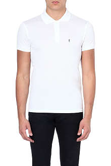 SAINT LAURENT Cotton-pique polo shirt
