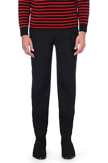 SAINT LAURENT Tapered wool trousers