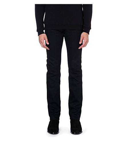SAINT LAURENT Skinny mid-rise stretch-denim jeans (Black