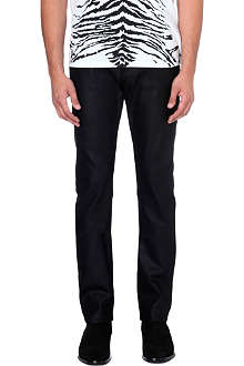 SAINT LAURENT Slim-fit straight coated jeans