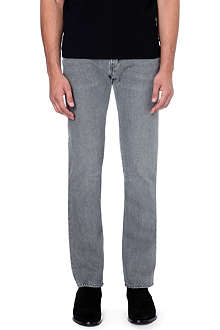 SAINT LAURENT Slim straight mid-rise jeans