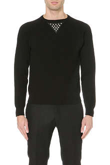 SAINT LAURENT Stud-detail jumper