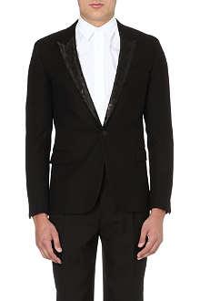 SAINT LAURENT Leopard-jacquard wool blazer