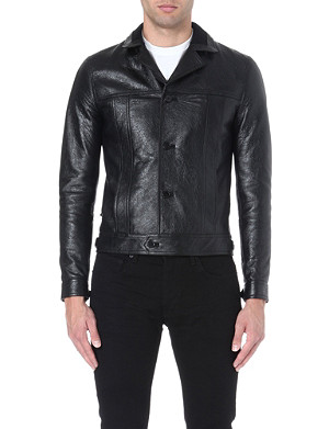 SAINT LAURENT Leather blouson jacket