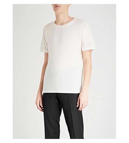 SAINT LAURENT 1971 logo-print cotton-jersey T-shirt (Natural