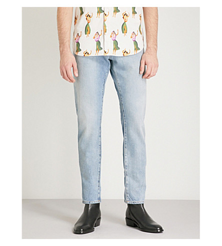 SAINT LAURENT Slim-fit tapered jeans (Blue