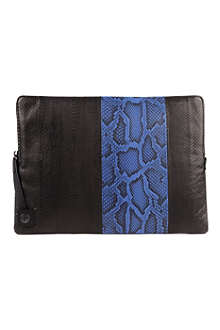 LANVIN Large snakeskin documents pouch