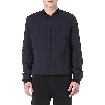LANVIN Quilted bomber jacket (Black
