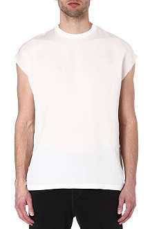 LANVIN Sleeveless crepe t-shirt