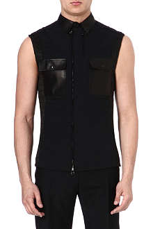 LANVIN Leather pocket gilet