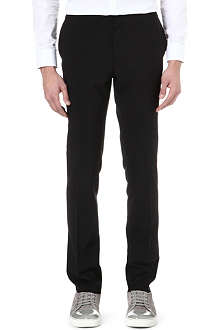LANVIN Silk-waistband slim-fit trousers