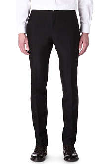 LANVIN Silk-blend slim-fit trousers