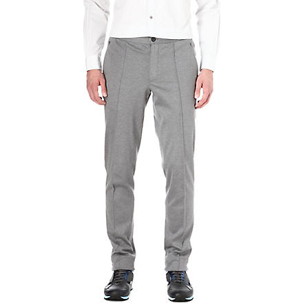 LANVIN Pleat jersey trousers (Grey