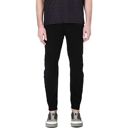 LANVIN Biker cotton trousers (Black