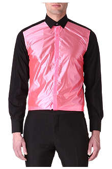 LANVIN Metallic-panel single-cuff shirt