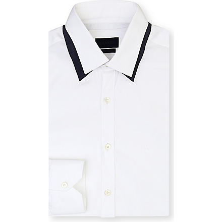 LANVIN Double-collar slim-fit shirt (White