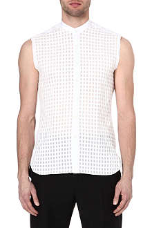 LANVIN Sleeveless semi-sheer shirt