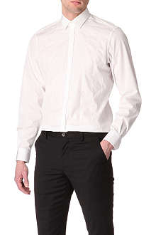 LANVIN Panelled slim-fit single-cuff shirt