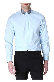 LANVIN Grosgrain-collar slim fit shirt