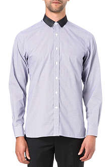 LANVIN Gingham grosgrain shirt