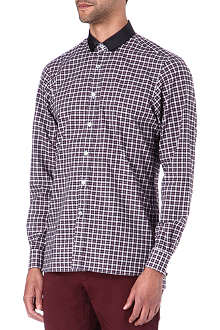 LANVIN Gingham check grosgrain shirt