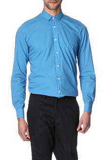 LANVIN Grosgrain-collar slim-fit single cuff shirt
