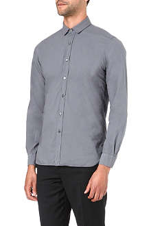 LANVIN Grosgrain-collar sports shirt