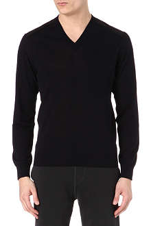 LANVIN Panelled knitted jumper