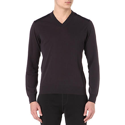 LANVIN Panelled knitted jumper (Lavender