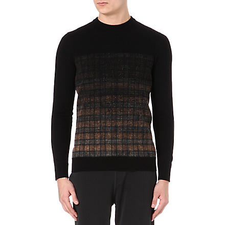 LANVIN Degradé patterned jumper (Black