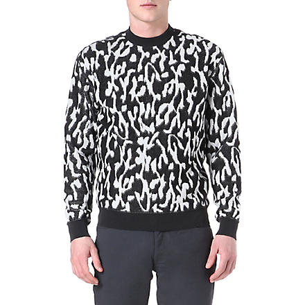LANVIN Animal-print jacquard sweatshirt (White/grey