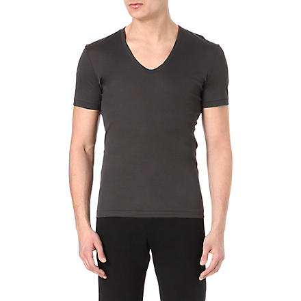 LANVIN Scoop-neck t-shirt (Charcoal