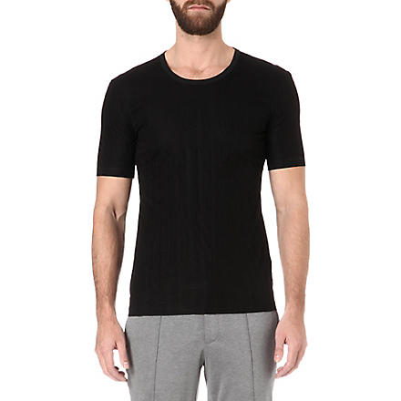 LANVIN Quilted panel t-shirt (Black