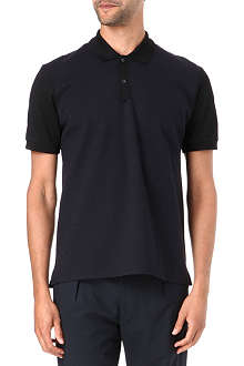 LANVIN Felt-panelled polo shirt