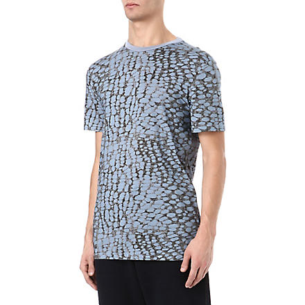 LANVIN Burn Out print t-shirt (Blue