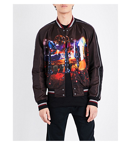 LANVIN Dune satin bomber jacket (Black