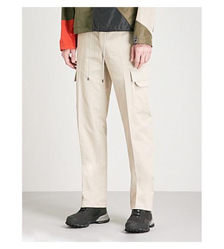 LANVIN Regular-fit straight cotton cargo trousers (Chalk