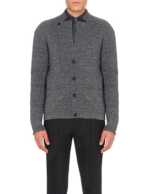 WOOYOUNGMI Notch-collar knitted cardigan