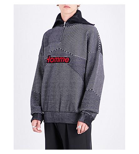 BALENCIAGA Homme wool-blend hoody (Noir+logo+rouge