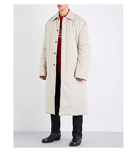 BALENCIAGA Oversized quilted cotton coat (Beige