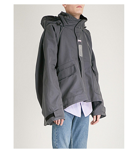 BALENCIAGA C-Shape shell parka coat (Ardoise