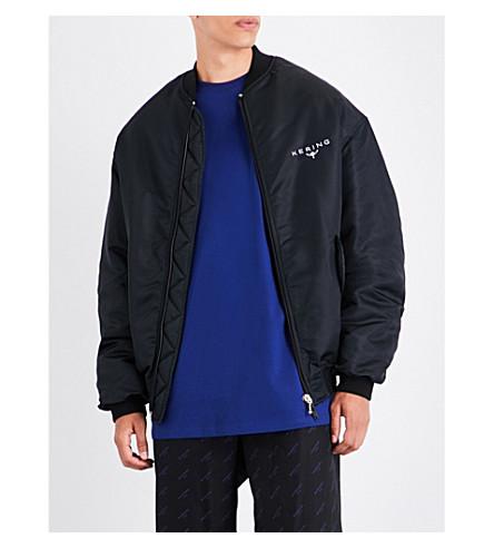 BALENCIAGA Kering shell bomber jacket (Noir