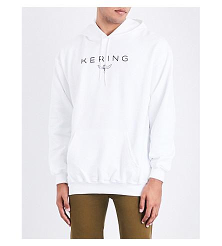 BALENCIAGA Kering cotton-jersey hoody (Blanc