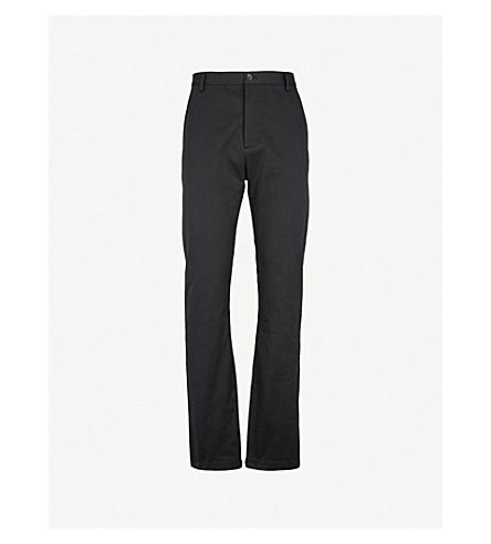 BALENCIAGA Slim-fit straight cotton chinos (Noir